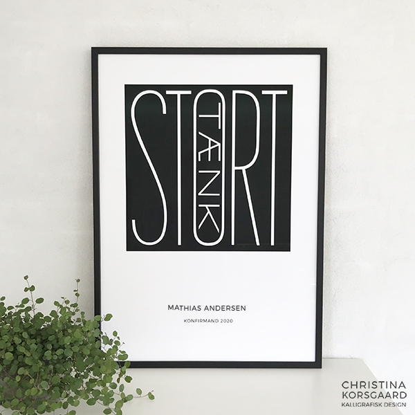 Tænk STORT plakat med navn og begivenhed