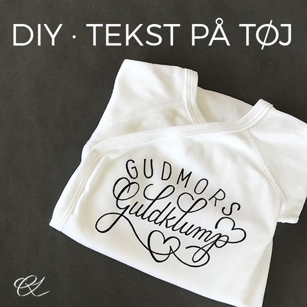 DIY - tekst på tøj - sammenligning af transferark og penne.