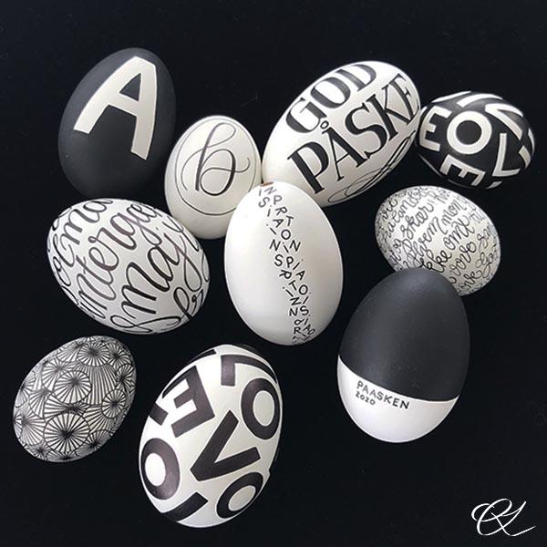 Påskeæg med bogstaver